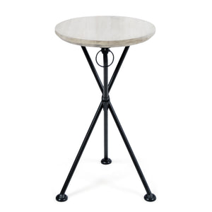 Lorelei Outdoor Portable Foldable Finished Acacia Wood Side Table