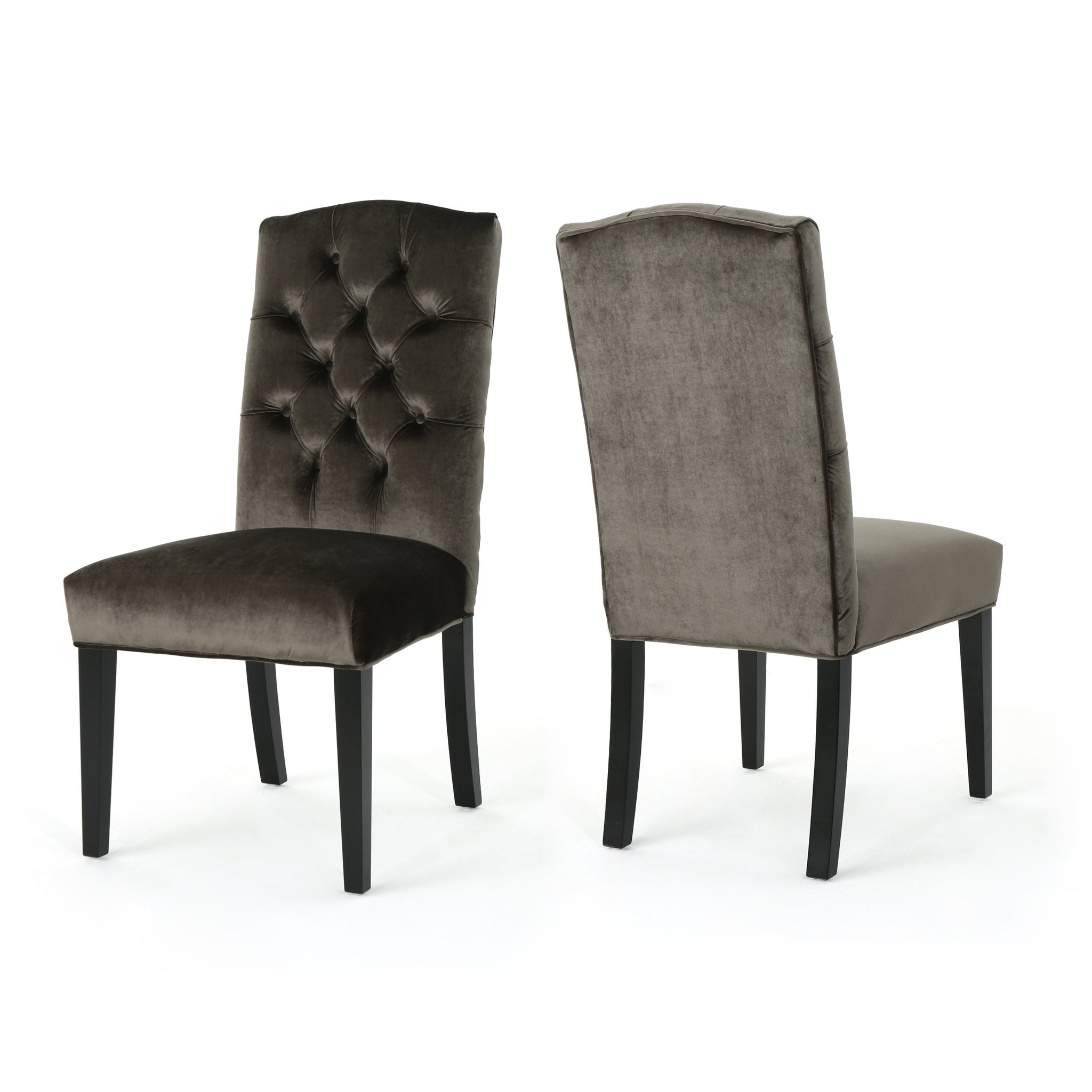 Newport Traditional Crown Top Dining Chairs (Set Of 2)