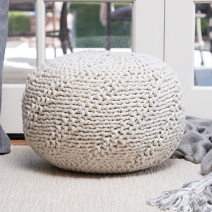 Hayden Indoor/ Outdoor Fabric Weave Pouf