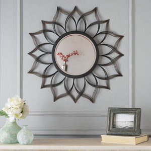 Seminole Floral Hanging Wall Mirror