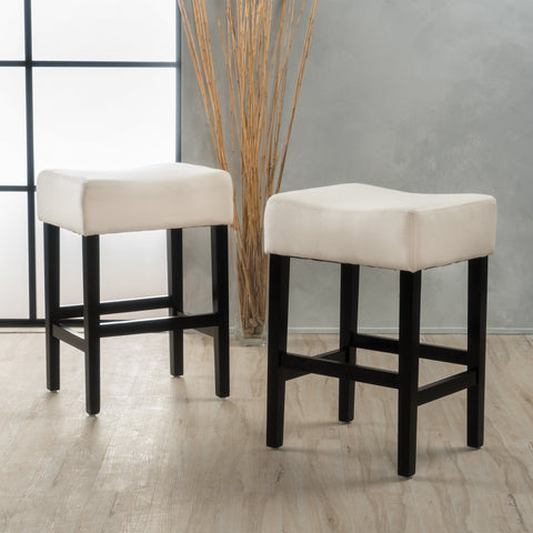 Lomita Fabric Backless Counter Stools (Set Of 2)