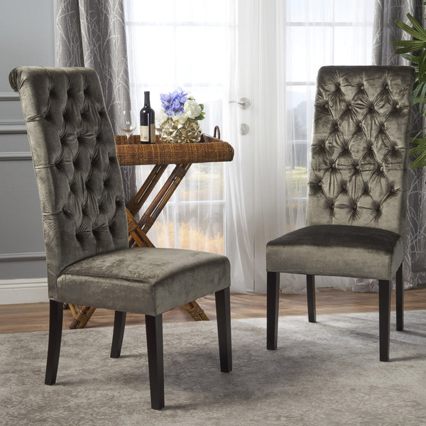 Lenox Tall Back Tufted Dining Chair (Set Of 2)