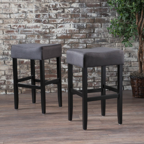 Pompidou Backless Fabric Barstools (Set Of 2)