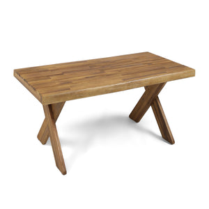 Dymnos Outdoor Acacia Wood Coffee Table