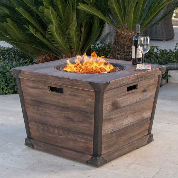 Deirdre Outdoor 32 Inch Square Fire Pit