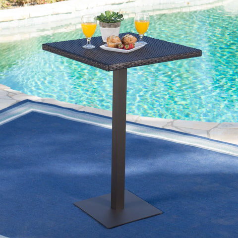 Dolan Outdoor 26 Inch Wicker Square Bar Table