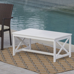 Islamorada Outdoor Finished Acacia Wood Coffee Table