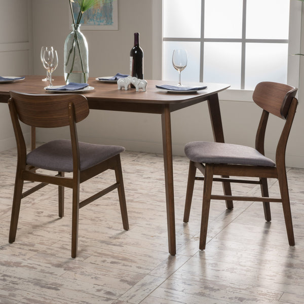 Lucca Tea Fabric/ Finish Dining Chair (Set Of 2)