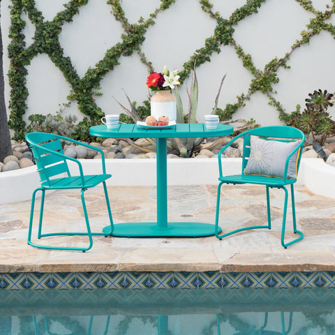 Santa Ana Outdoor Matte Finished Iron Bistro Set