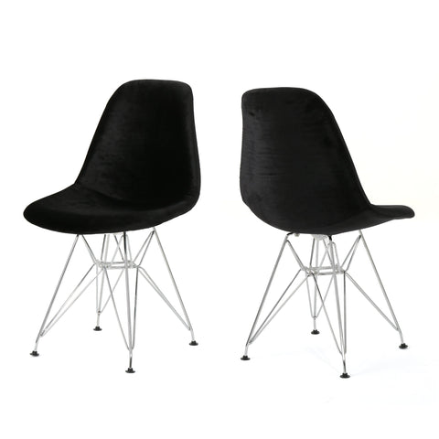 Wilf Mid Century Smoke Eiffel Chair (Set Of 2)