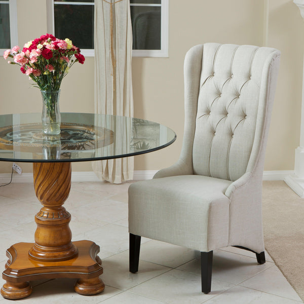Chadna Tufted Fabric Dining Chair (Single)
