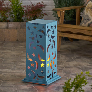 Roland Outdoor 23 Inch Iron Cutout Lantern