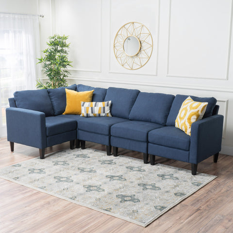 Yuny Fabric Sectional Couch