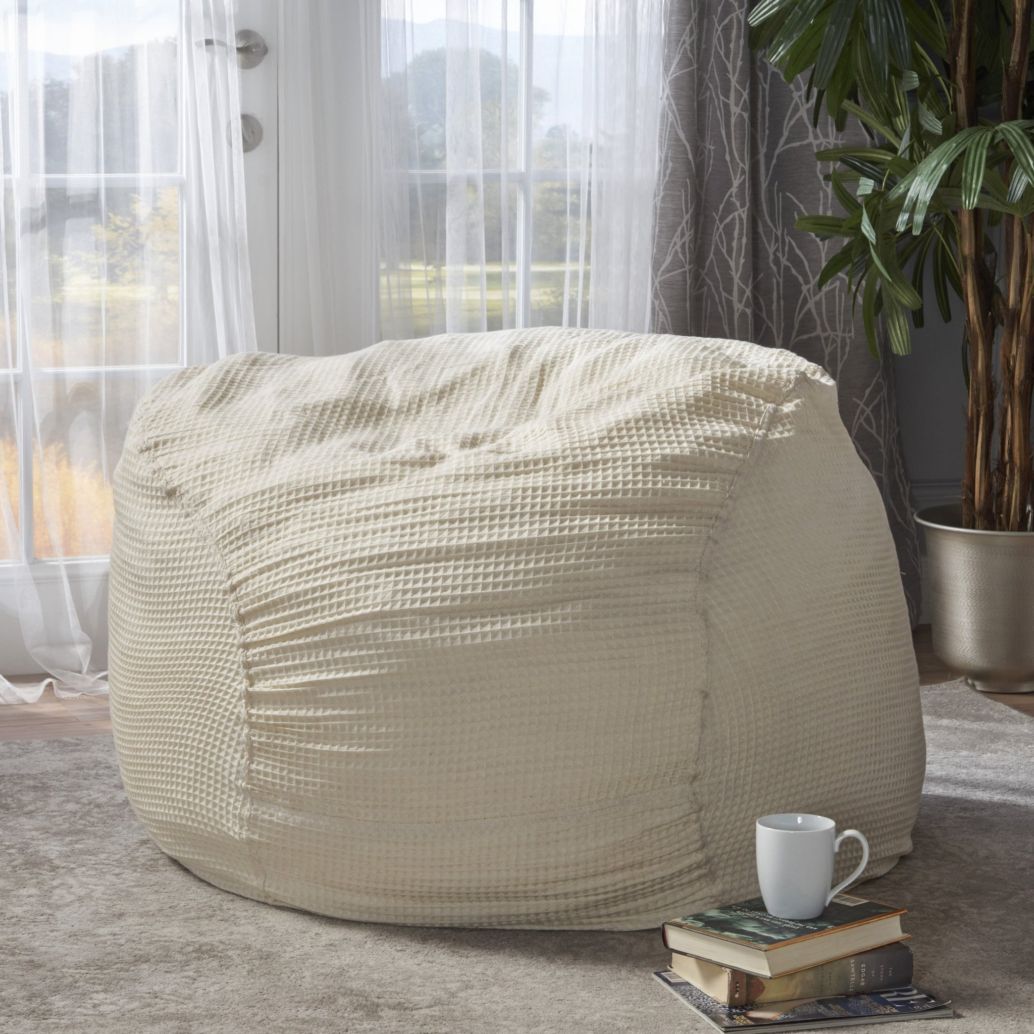 Amazing Tracy Natural Fabric 4 Ft Bean Bag Dailytribune Chair Design For Home Dailytribuneorg