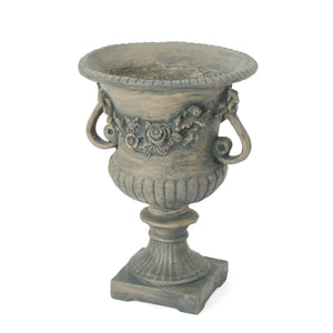 Bryony Vista Outdoor 24 Inch Antique Finish Cast Stone Urn