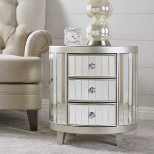 Fossa Mirrored Cabinet With Hardwood Accents