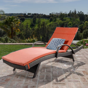 Sagan Outdoor Wicker Lounge With Arms With Water Resistant Cushion