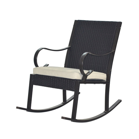Harlow Outdoor Wicker Rocking Chair With Cushion (Set Of 2)