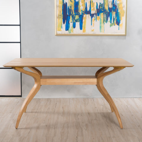 Sahara Natural Finish Wood Dining Table