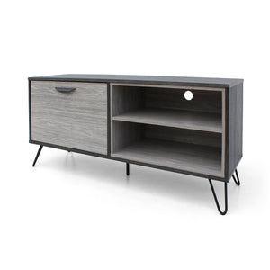 Vanora Mid Century Modern Two Toned Finished Faux Wood Tv Stand