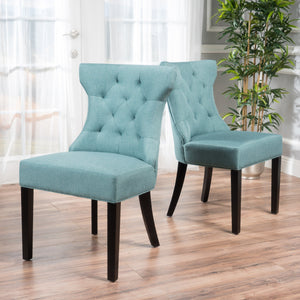 Katherina Tufted Wingback Dining Chair 2Pk