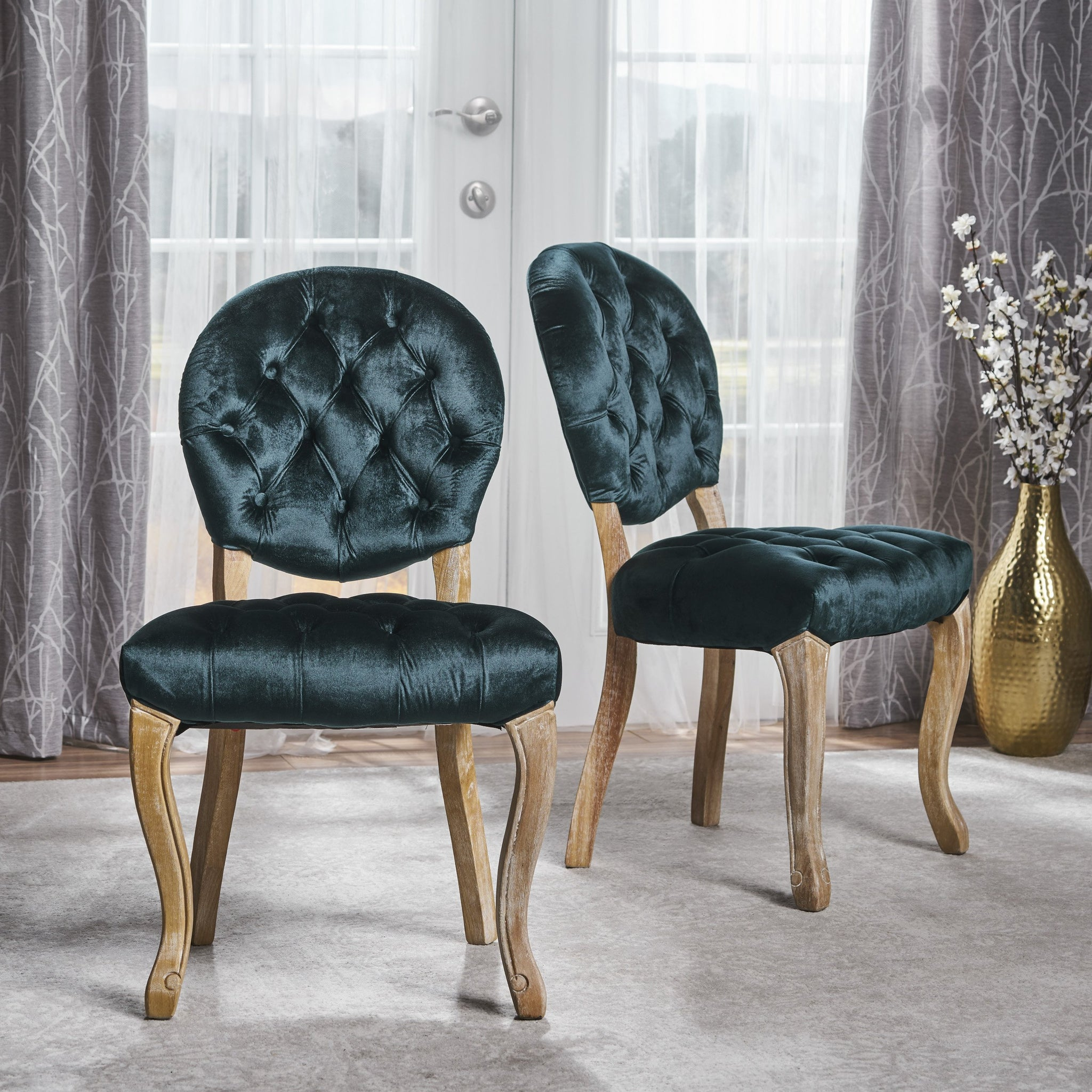 Wren Tufted Dining Chairs (Set Of 2)