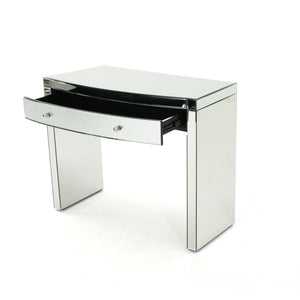 Nathan Mirrored Curved Console Table
