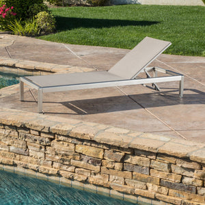 Canobie Kd Outdoor Mesh Chaise Lounge
