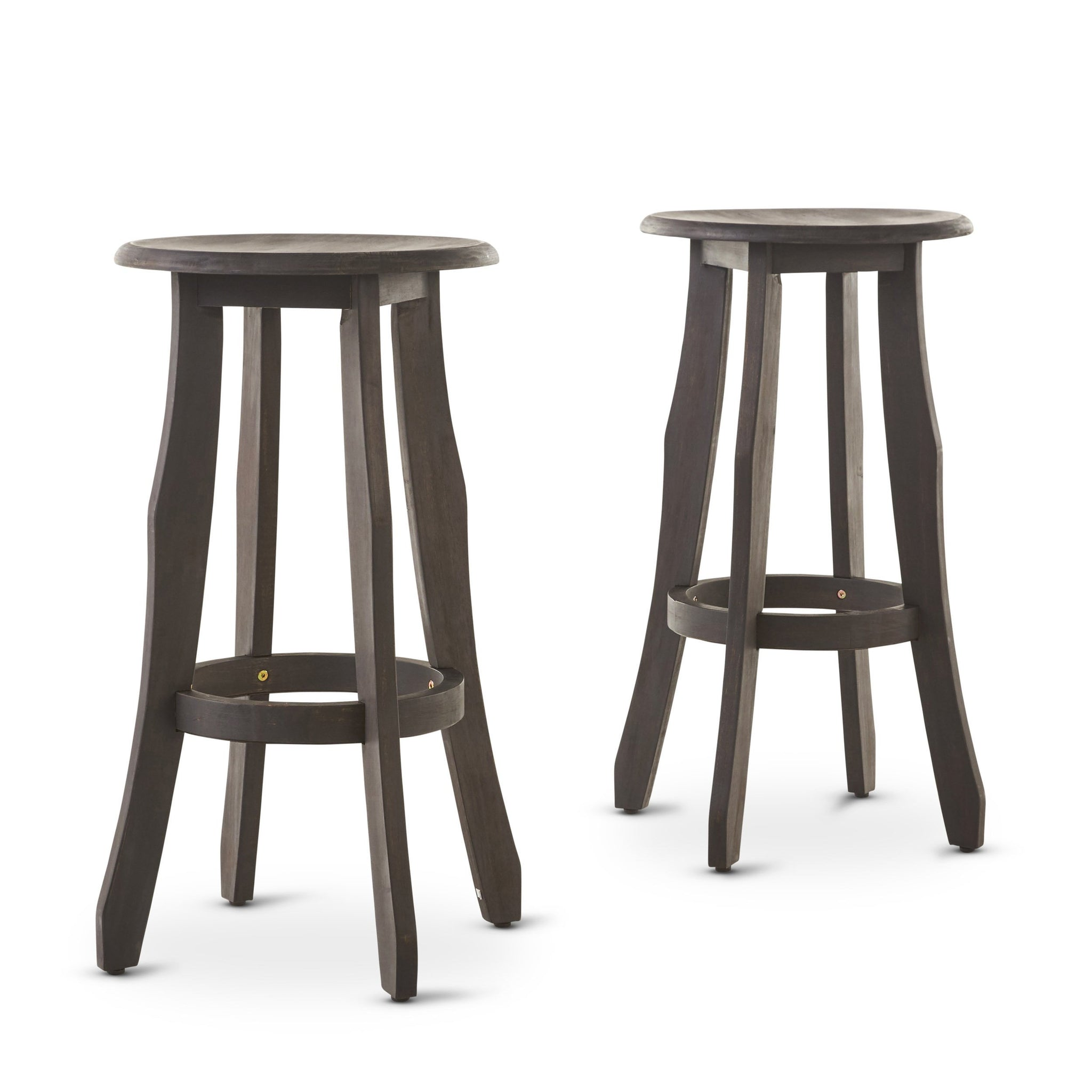 Ruger Indoor Finished Acacia Wood Barstools (Set Of 2)