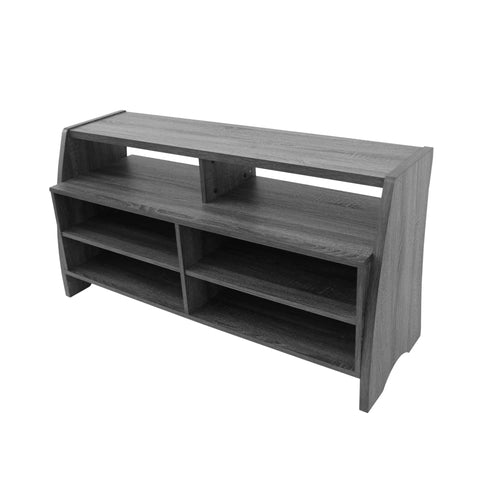 Tenley Farmhouse Rustic Faux Wood Overlay Tv Stand