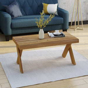 Erena Indoor Farmhouse Acacia Wood Coffee Table