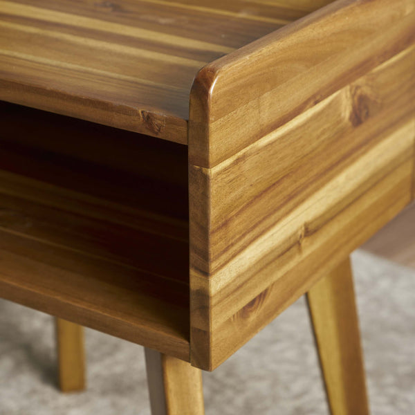 Altree Natural Stained Acacia Wood Side Table