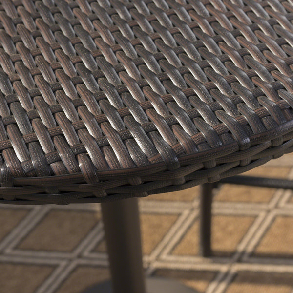 Dolan Outdoor 26 Inch Wicker Round Bar Table