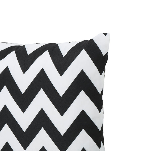 Eponine Indoor Zig Zag Water Resistant Square Throw Pillow