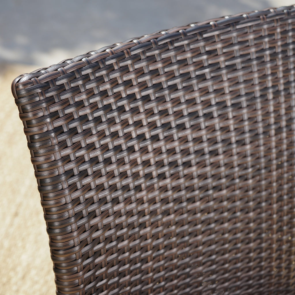 Stupendous Dorsey Outdoor Wicker Armless Stack Chairs With An Aluminum Frame Set Of 2 Creativecarmelina Interior Chair Design Creativecarmelinacom