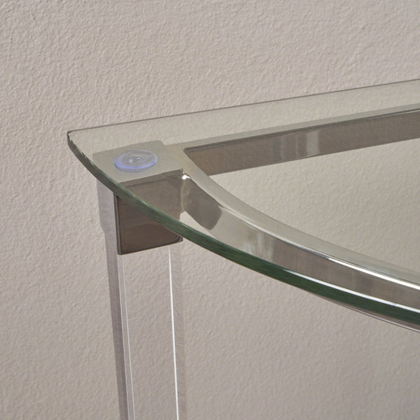 Iona Modern Tempe Glass Console Table With Acrylic And Iron Accents