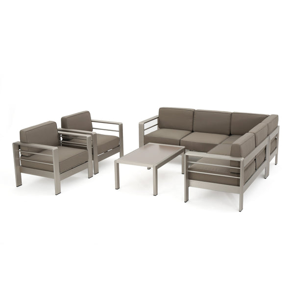 Canobie Outdoor Wicker Dining Set With Sofa Set
