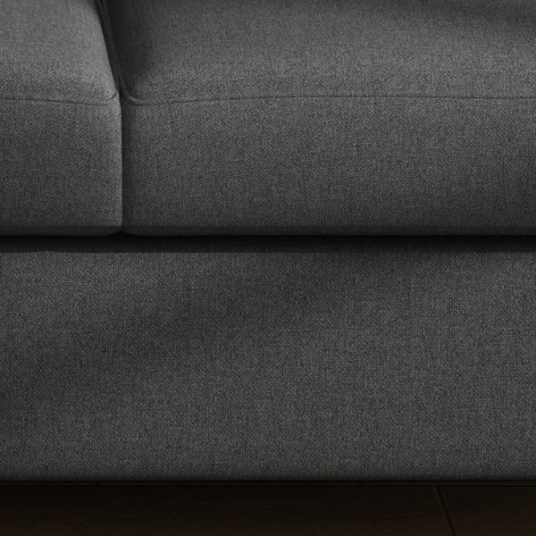 Emeric Buttoned Traditional Fabric 3 Seater Sofa