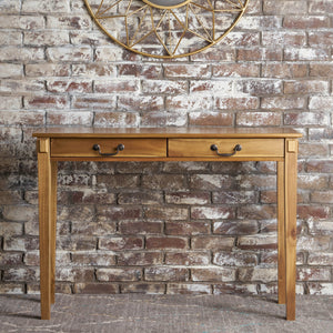 Cedric Classic Natural Stained Acacia Wood Console Table