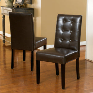 Rocco Bonded Leather Dining Chairs (Set Of 2)