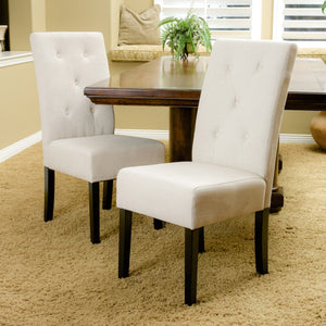 Tate Natural Fabric Dining Chair (Set Of 2)