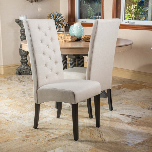 Taiga Natural Fabric Dining Chairs (Set Of 2)