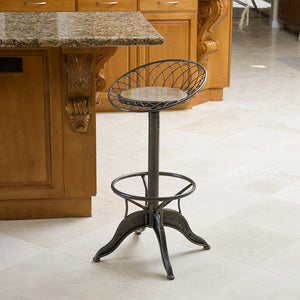 Grant Weathered Wood Barstool