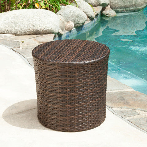 Kaylan Wicker Barrel Side Table