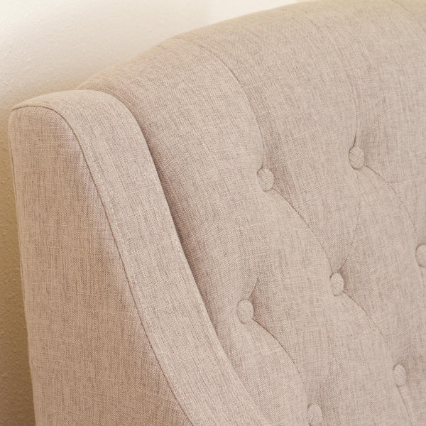 Eileen Tufted Fabric Chair And Ottoman