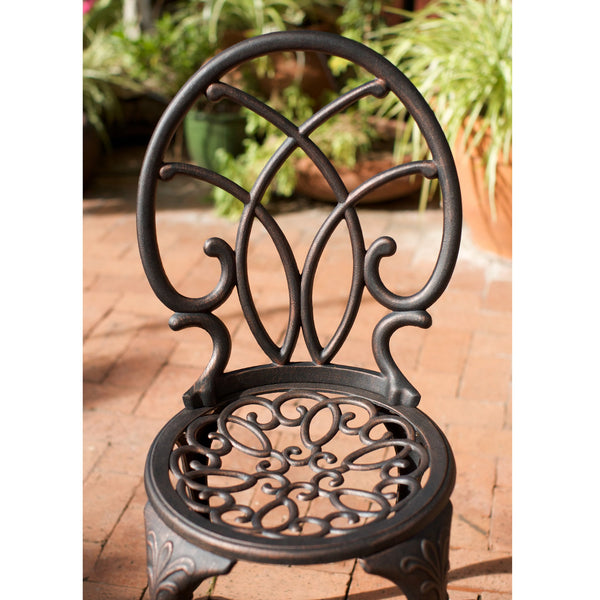 Chantelle Aluminum Copper Bistro Set