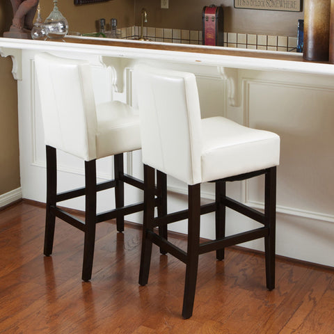 Lomita Leather Counterstools (Set Of 2)