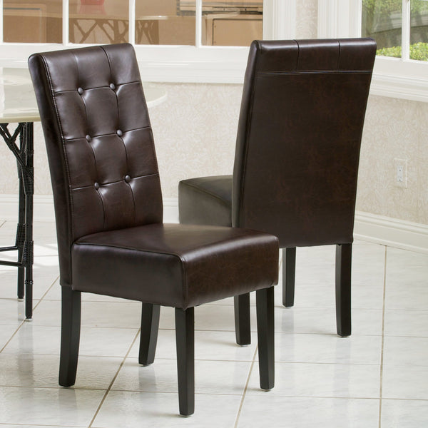 Andor Bonded Leather Dining Chair 2-Pack