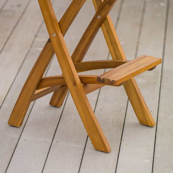 Troy Outdoor Wood Barstool