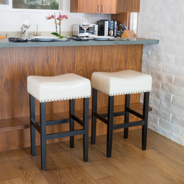 Linwood Backless Leather Counter Stool (Set Of 2)